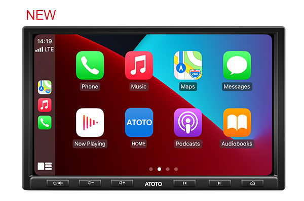 ATOTO 8inch F7G1A8PE in-Dash Video Receiver - F7 PE CarPlay & Android Auto Receiver with Bluetooth, HD LRV(Live Rearview),Phone