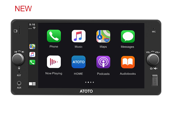ATOTO F7 SE in-Dash Navigation-for Selected Toyota Models-F7TYC7SE CarPlay&Android Auto Receiver,Bluetooth,Phone Charge,MirrorLi