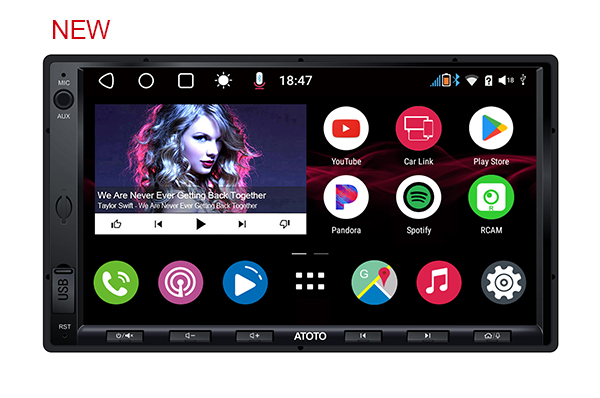[New] ATOTO A6 Double DIN A6G2A7KL KarLink Android Car in-Dash Navigation Dual Bluetooth,WiFi/BT/USB Tethering Internet